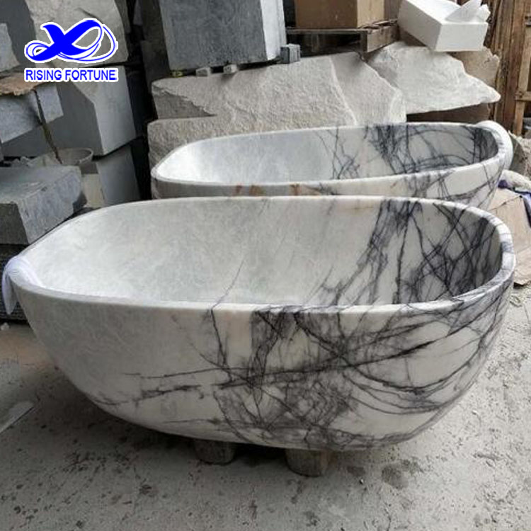 polished bathtub marble