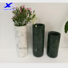 Customized cylinder marble flower vases