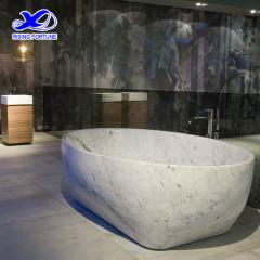 carrara white marble bathtub
