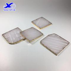 white crystal coasters