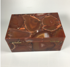 Red agate ring stone box