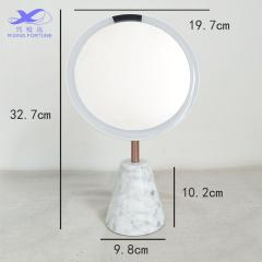 New design marble make up mirror with Led lights and USB charger