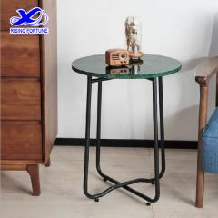 round medium green side table