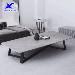 square grey marble coffee table