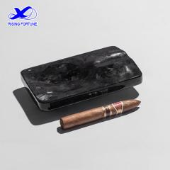 Rectangular Black Marble Cigar Ashtray for Home and Office